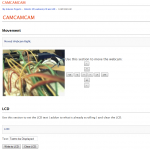 The web interface for the cam