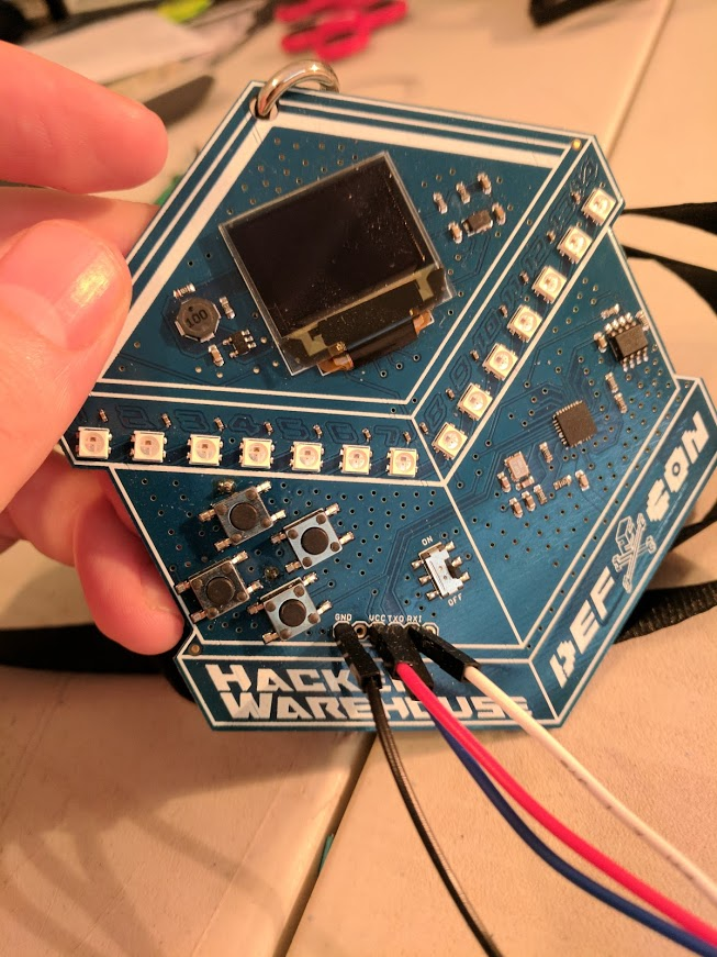 Finding the 'unlock' codes on the Hacker Warehouse Badge Defcon 2017
